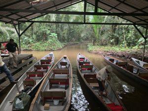 Canoes in Amazon
