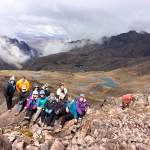 Summit of mountain